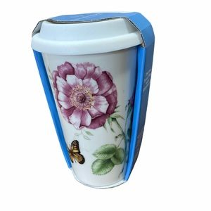 Lenox Hill Butterfly Cup NWT Thermal Travel Mug
